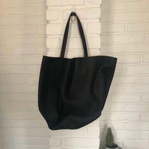 Handbags - Two toned Black and Tan Tote Back